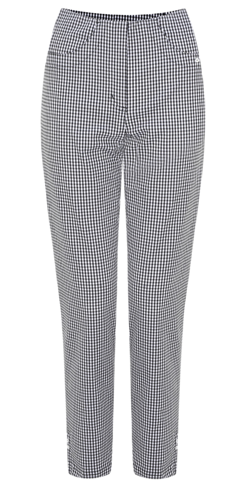 Bella 09 Gingham Check Cropped Trouser main image