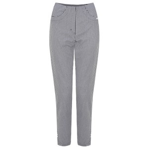 Robell Trousers Bella 09 Gingham Check Cropped Trouser