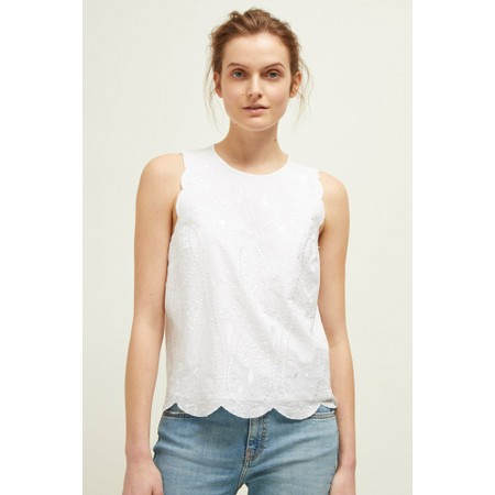 Great Plains Bali Embroidery Top - White