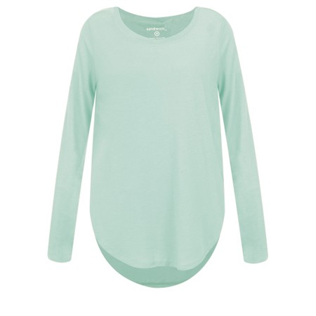 Sandwich Clothing Linen Mix Long Sleeve Top - Green