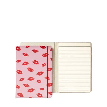 Kate Spade Lips Notepad Organiser Folio - Red