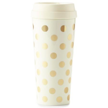 Kate Spade Gold Dot Thermal Mug - Gold