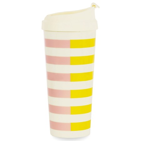 Kate Spade Two-Tone Stripes Thermal Mug - Pink