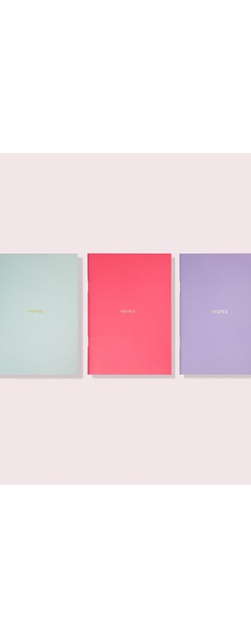Kate Spade Colourblock Triple Notebook Set Multi