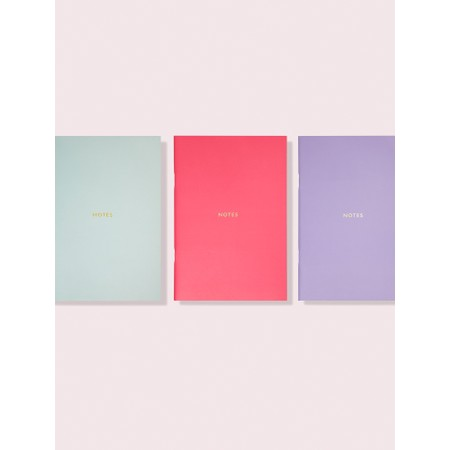 Kate Spade Colourblock Triple Notebook Set - Multicoloured