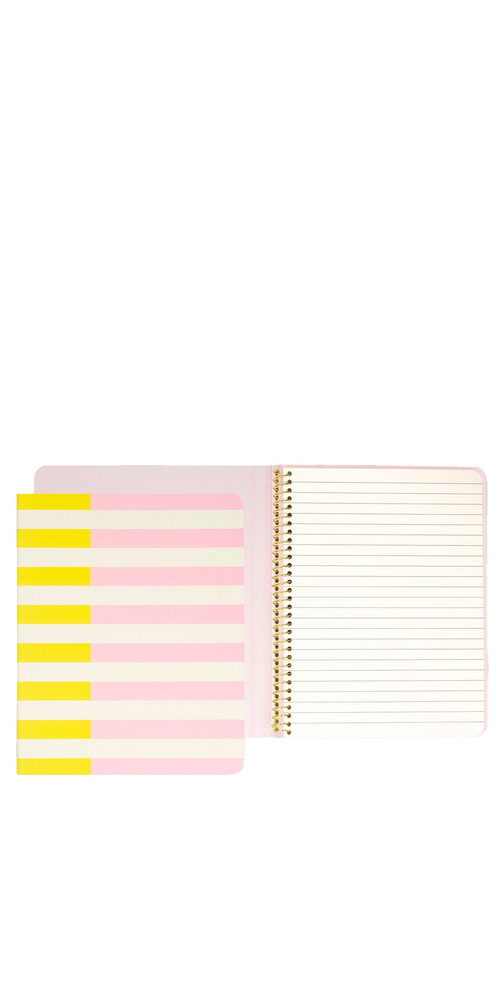 Two-Tone Stripes Concealed Spiral Notebook main image