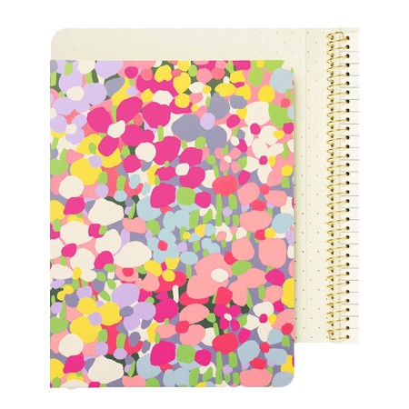 Kate Spade Floral Dot Concealed Spiral Notebook - Multicoloured