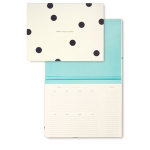 Kate Spade Deco Dot Weekly Meal Planner
