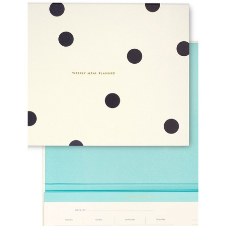 Kate Spade Deco Dot Weekly Meal Planner - Off-White