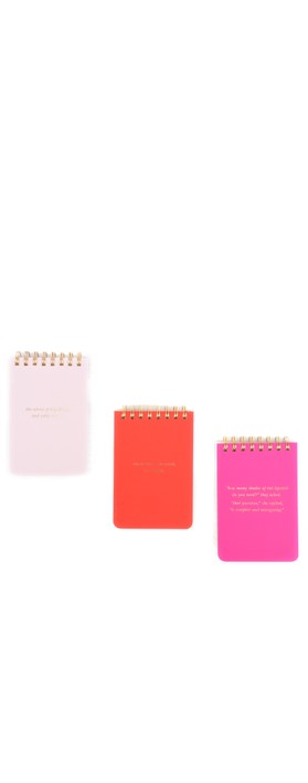 Kate Spade She Statements Spiral Notepad Set Multi