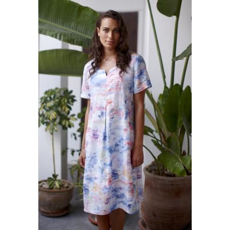 Sahara Dapple Linen Print Dress - Multicoloured