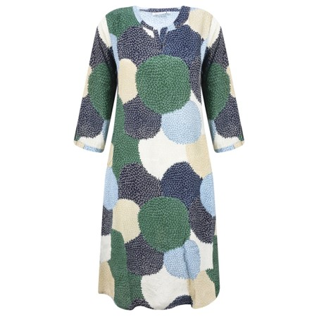 Masai Clothing Nana Allium Print Dress - Blue