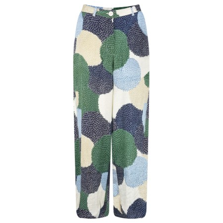 Masai Clothing Perinus Allium Print Trouser - Blue