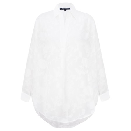 French Connection Clarita Fil Coupe Shirt - White