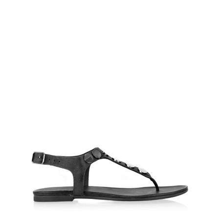 INUOVO Laura Flat Sandal  - Black