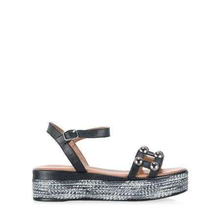 INUOVO Gemma Flatform Wedge Sandal - Black