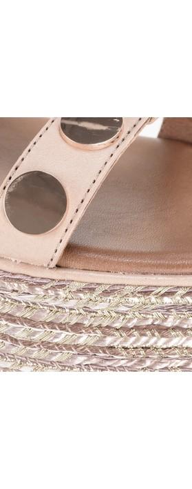 INUOVO Beth Flatform Wedge Sandal  Visone