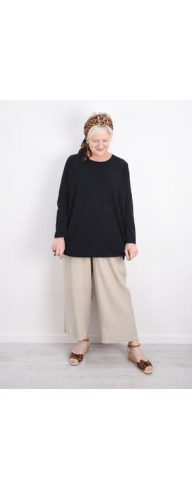 Sahara Cotton Jersey Oversized Top Black