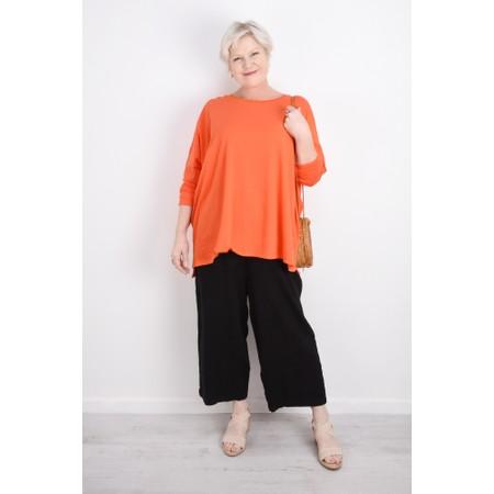 Sahara Textured Linen Culottes - Black