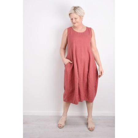 Thing Linen Sleeveless Dress - Pink