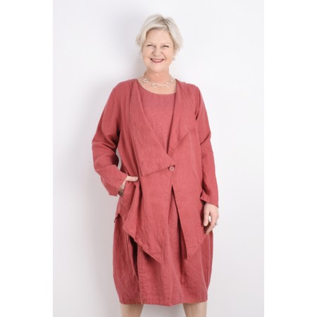Thing Linen Edge To Edge Jacket - Pink
