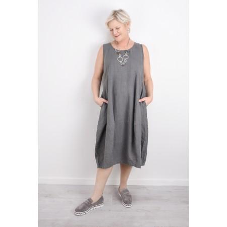 Thing Linen Sleeveless Dress - Blue