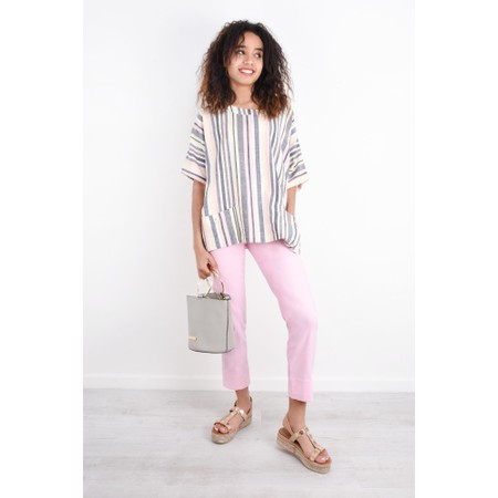 Adini Sundae Stripe Una Top - Off-White
