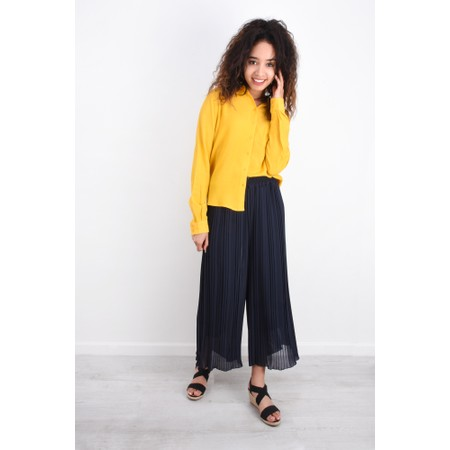 Aisling Dreams Palazzo Pleated Culottes - Blue
