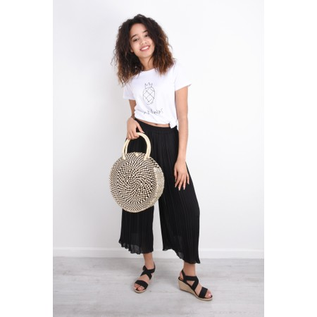 French Connection Ananas Tee Top - Black