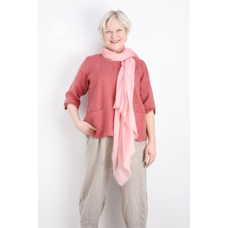 Thing Linen Pocket Top - Pink
