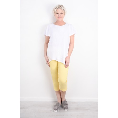 Robell Trousers Marie 07 Cropped Trouser - Yellow