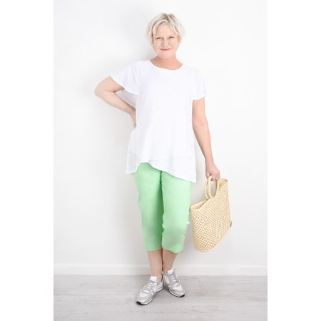 Robell  Marie 07 Cropped Trouser - Green