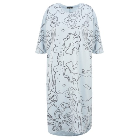 Grizas Klaudia Printed Jersey Tunic Dress - Grey