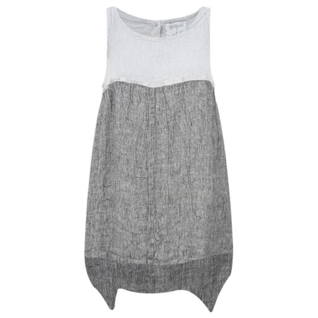 Grizas Marta Sleeveless Linen Tunic - Grey