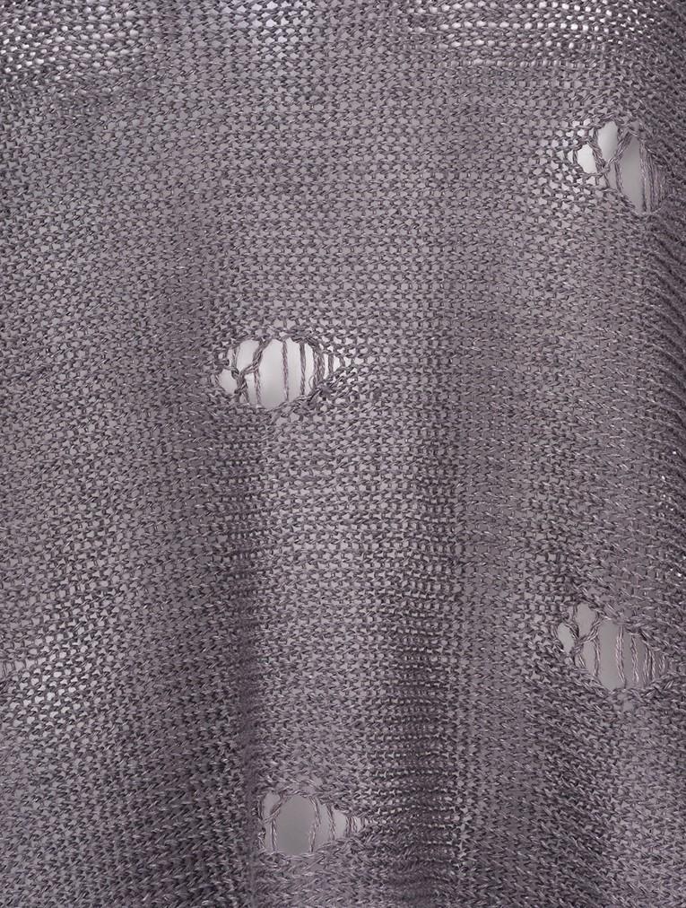 Kasja Oversized Linen Knit Jumper With Holes main image