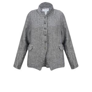 Grizas Olga Short Button Front Linen Jacket