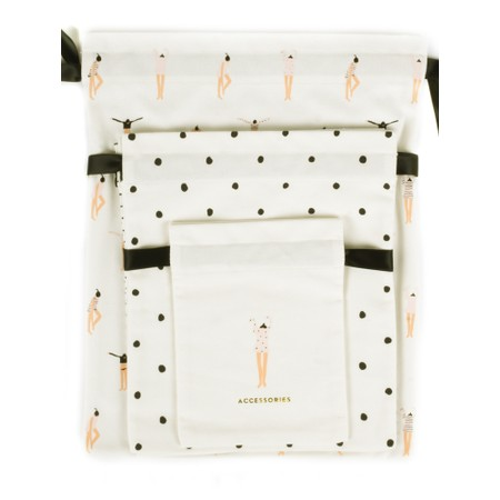 Kate Spade Getting Dressed Travel Bag Set - Off-White