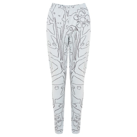 Grizas Elze Printed Jersey Leggings - Grey