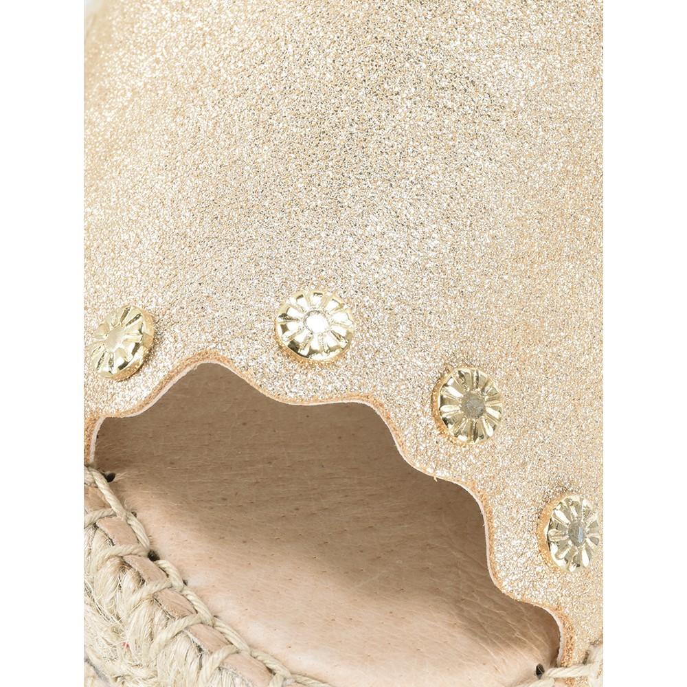 Kanna Chianti Espadrille Wedge Sandal Oro (Gold)