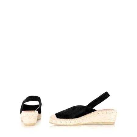 Kanna Dagne Espadrille Wedge Sandal - Black