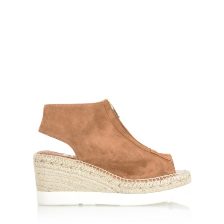 Kanna Moira Espadrille Wedge Sandal - Brown