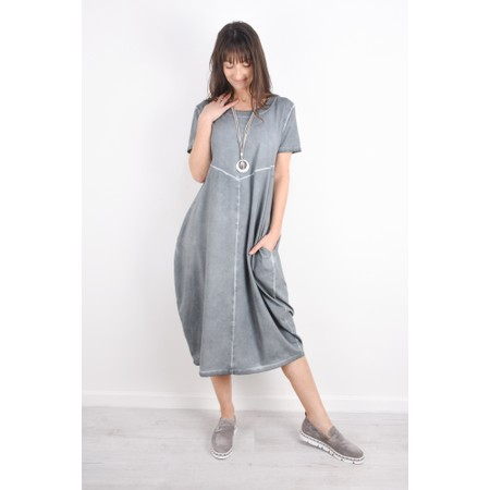 Grizas Yana Short Sleeve Jersey Dress - Blue
