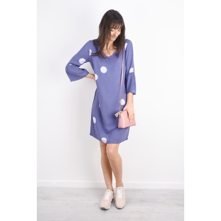 Sandwich Clothing Large Dot Frill Sleeve Dress - Purple