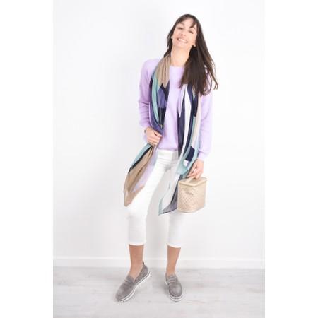 Sandwich Clothing Cotton Rib Knit Jumper - Purple