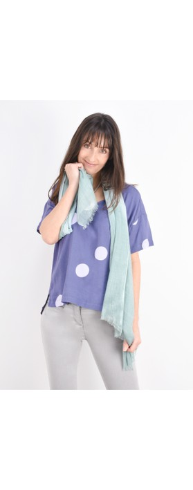 Sandwich Clothing Colour Wash Scarf Anise Green