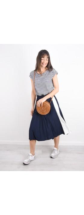 Betsy & Floss Palermo Round Basket Bag Tan