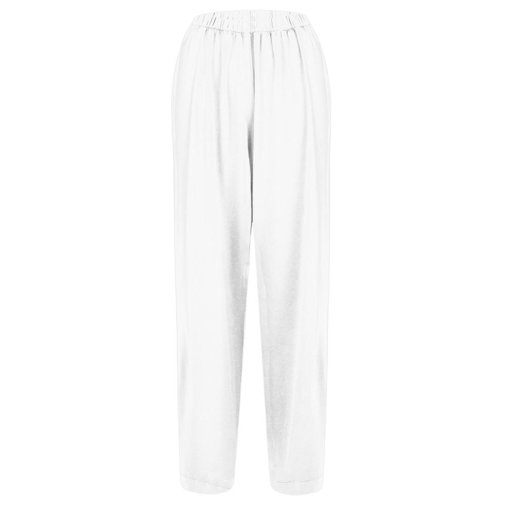 Mama B Clima Izmir Plain Trouser Bianco