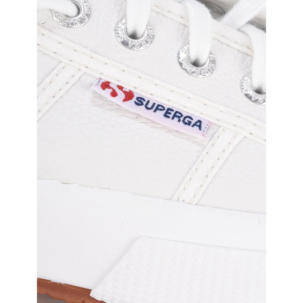 Superga 2750 Efglu White Classic Leather Trainer White