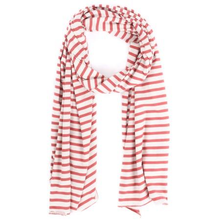 Mama B Tuono Riga Stripe Scarf - Red