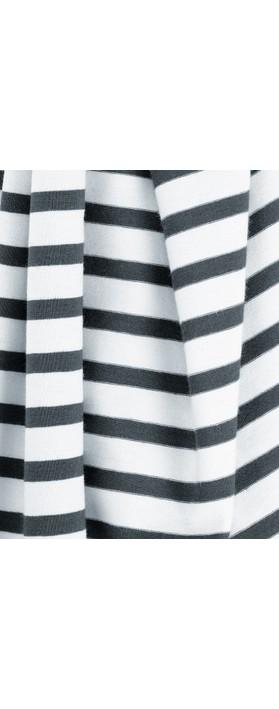 Mama B Tuono Riga Stripe Scarf Mare/Osso